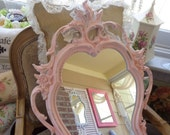 VINTAGE SYROCO Your choice of color or finish baroque, country cottage, shabby chic, eclectic baby girl nursery elegant mirror 31x19
