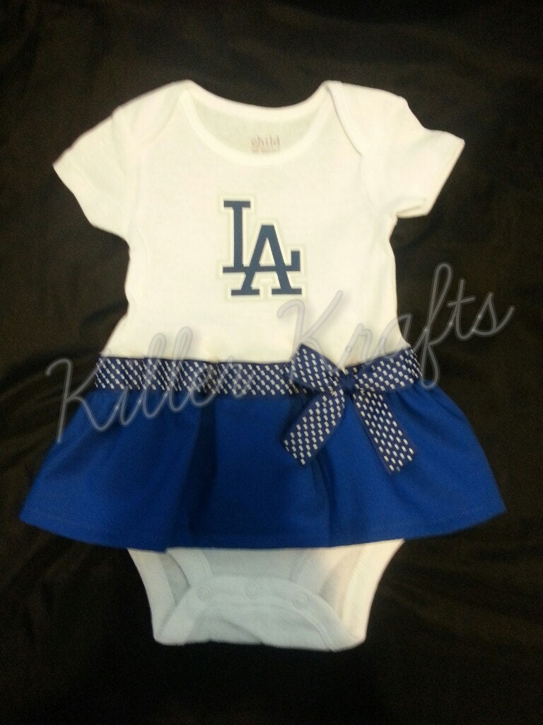 Baby Gear Galore  Los Angeles Dodgers inspired baby girl outfit 565ad9ce366