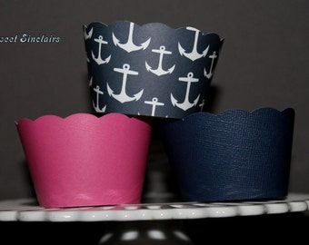 Assorted Nautical Cupcake Wrappers