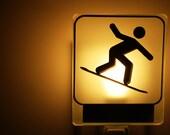 Nightlight,Snowboard night light/  Veilleuse Snowboard