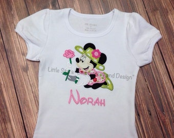 Minnie Mouse Gardening - Appliqued and Personalized