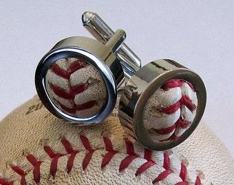 Game Used Baseball Cufflinks PERFECT MAN GIFT