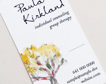 Nature Tree Business Card, Set of 50