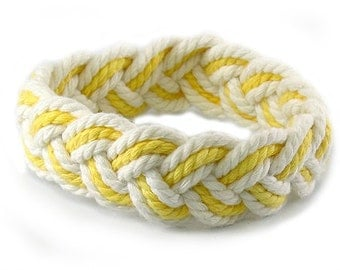 Yellow and White Sailor Friendship Bracelet