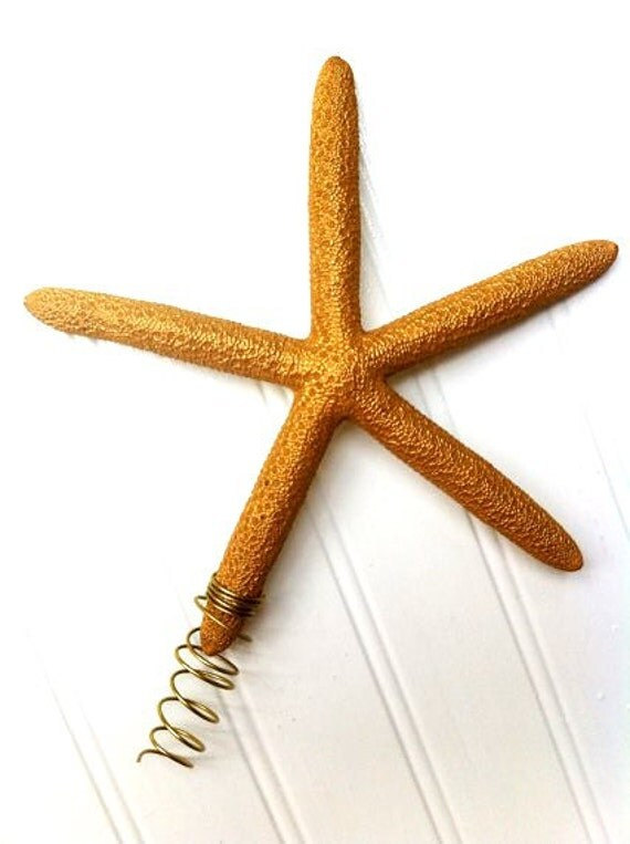 Starfish tree topper Gold Christmas star holiday decor ornament gift ...