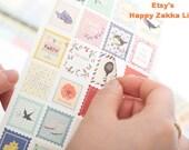 Paper Deco Sticker Set- Floral - 4 Designs - 8 Sheets