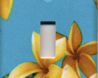 Hawaii Plumeria Single Light Switch Plate