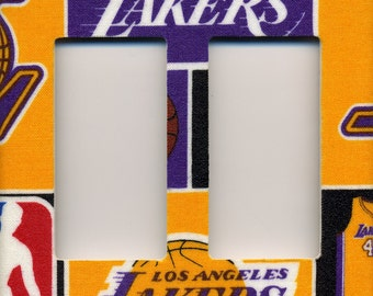 Los Angeles Lakers Double Decora Light Switch Plate