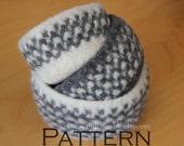 Felted Wool Bowls Nesting Baskets Crochet PATTERN - PDF 3525
