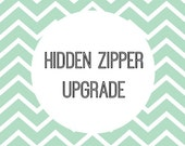 Zipper Upgrade. Add to Existing Order of Pillow Covers for a Zipper Instead of Envelope Closure.
