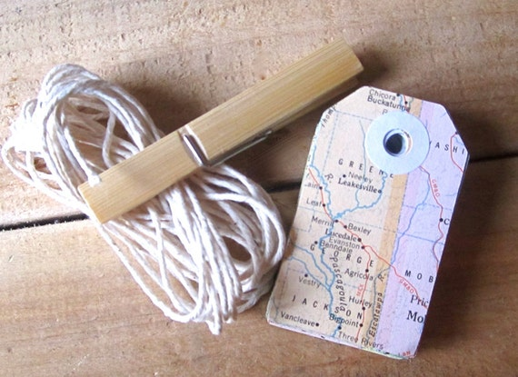Travel Theme Wedding, Gift Tags, Vintage Map, Hole Reinforcements, Destination Wedding, Map Favor, Map Colors, Vintage Wedding