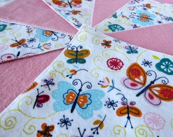 Diaper Wipes/Flannel Wash Cloths/Cloth Diaper Wipes for Baby, Colorful Butterflies and Flowers (10)