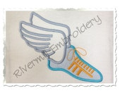 Track Shoe Applique Machine Embroidery Design - 4 Sizes