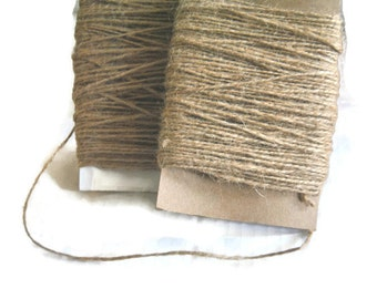 Natural Jute Twine 25 yards. Gift Tag String Cord- Eco Friendly.