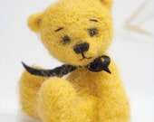 Collectible needle felted teddy bear Nampos . Artist Bear OOAK