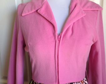 Vintage Evelyn Pearson lounging Apparel pink quilted skirt medium