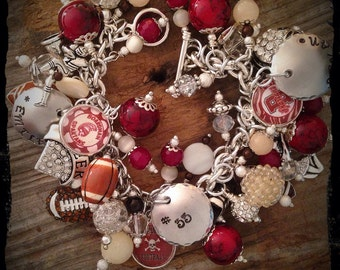 Football Mom Bracelet, Football Jewelry, Football Bracelet