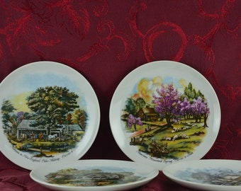 Currier and Ives Four Season Plates