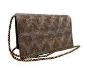 Vintage, Black Beaded Purse, Bag, Clutch, Shoulder Bag, Evening Bag