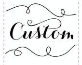 Custom listing for  Alyson Alois