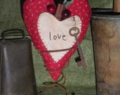 Primitive Heart Valentine Make Do