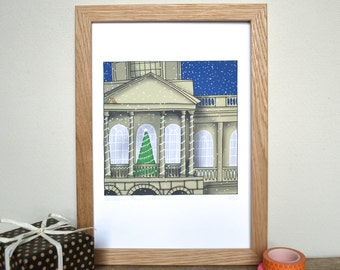 Liverpool Print - Town Hall print - Liverpool art - Liverpool Town Hall print - Liverpool Gift - Gift for Scouser - Christmas Print