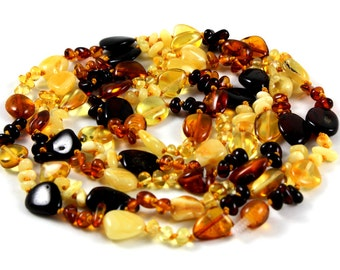 Baltic Amber Necklace Long Necklace Teething Baltic Amber necklace