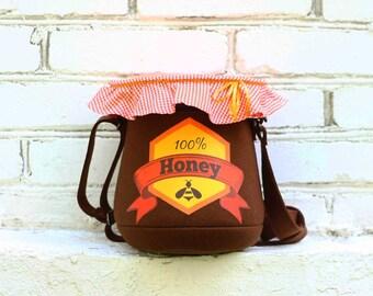 Honey Pot Purse Felt Bag