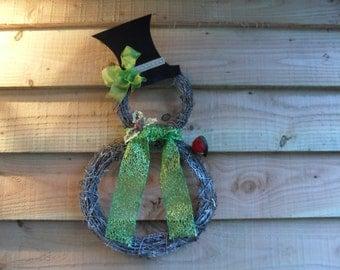Snowman Wreath - Snowman - Christmas Wreath - Christmas - Christmas Snowman - Robin