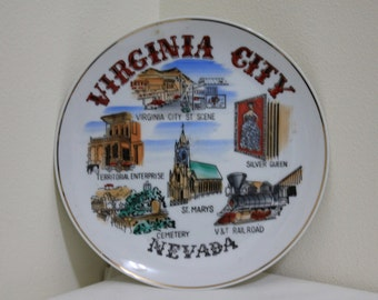 Vintage Virginia City, Nevada State Plate / Wall Hanging