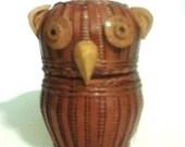 Little Owl Basket Vintage Big eyes