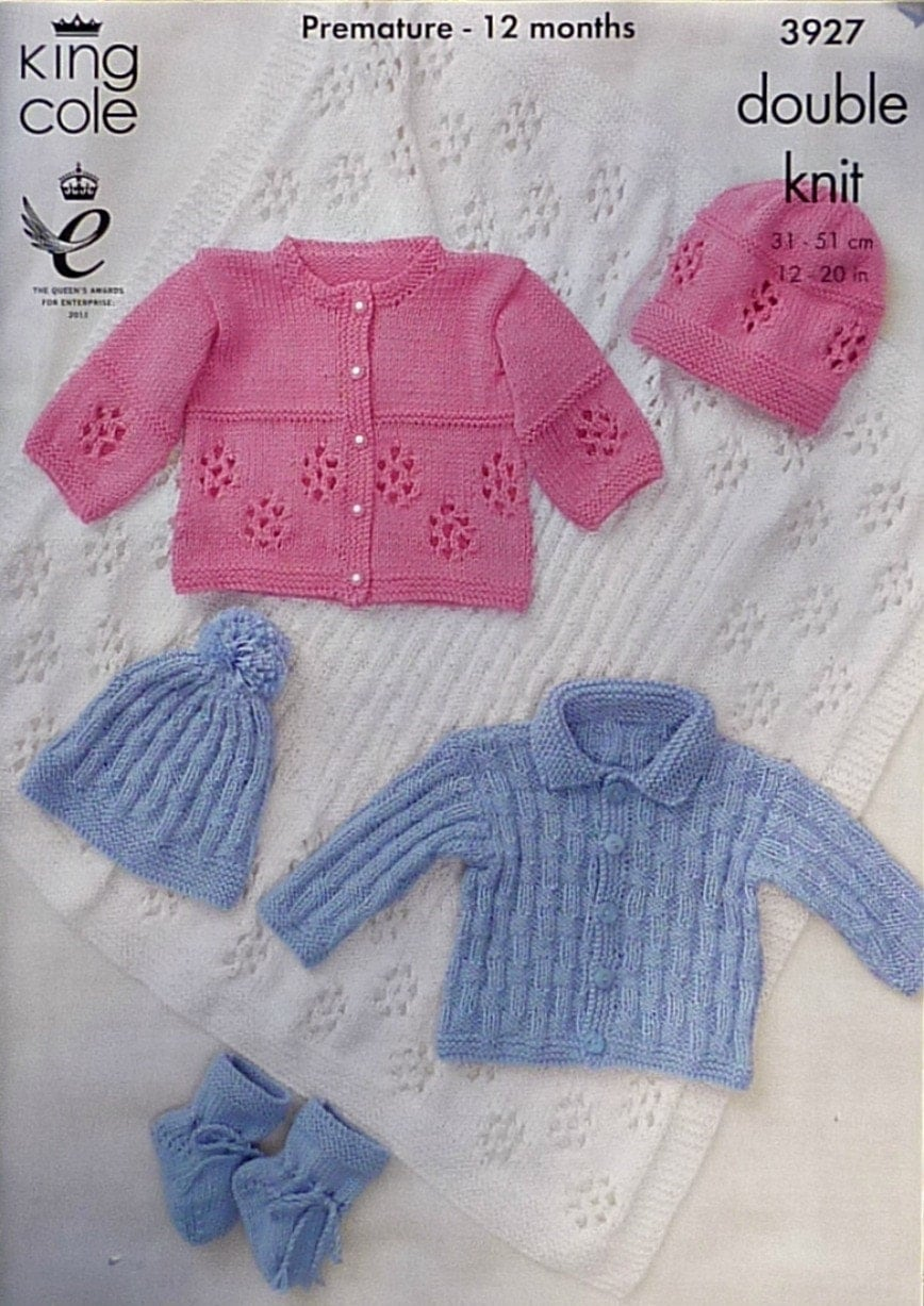 Free Knitting Patterns For Baby Shawls In Dk : Baby Knitting Pattern K3927 Babies Jackets Hats Bootees and Shawl Knitting Pa...