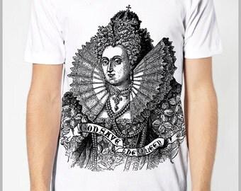 God Save the Queen Men's T Shirt American Apparel XS, S, M, L, XL 8 COLORS