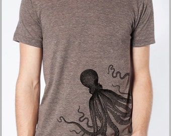Unisex T Shirt Octopus American Apparel XS, S, M, L, XL 9 COLORS