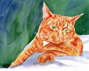 Purr...fect Rest- Orange Tabby