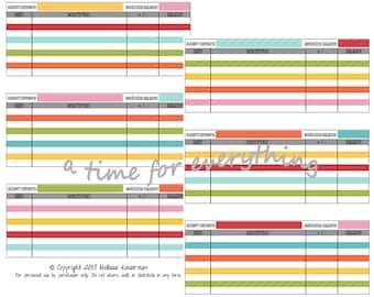 Blank cash envelope system spending logs budget inserts | printable instant download | Rainbow