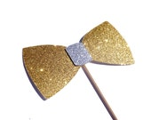 Photo Booth Props - Glitter Bow Tie - YOU CHOOSE COLOR - Glitter Photobooth Props