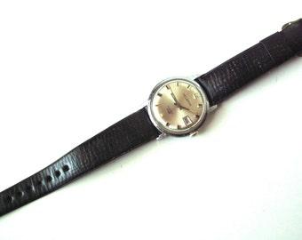 Vintage 1970's Winding Helbros Invincible Date Watch