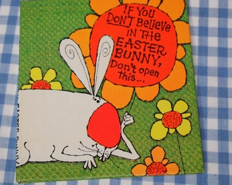 if you don't believe in the easter bunny, don't open this, vintage 1970s children's book