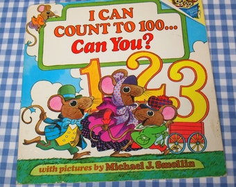 i can count to 100... can you, vintage 1979 children's book