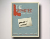 The Departed Minimalist Movie Poster / movie poster / minimal movie poster / alternate movie poster
