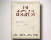 The Shawshank Redemption Inspired Minimalist Movie Poster / Get busy living / Wall Art / Print / Minimal / Movie Poster