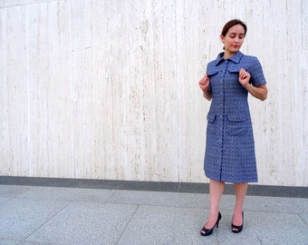 Vintage blue dress 1960s mad men