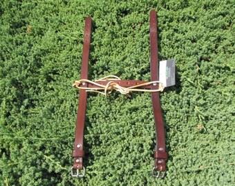 "Brown blanket roll ""straps only""  Irish Leather Works Original"