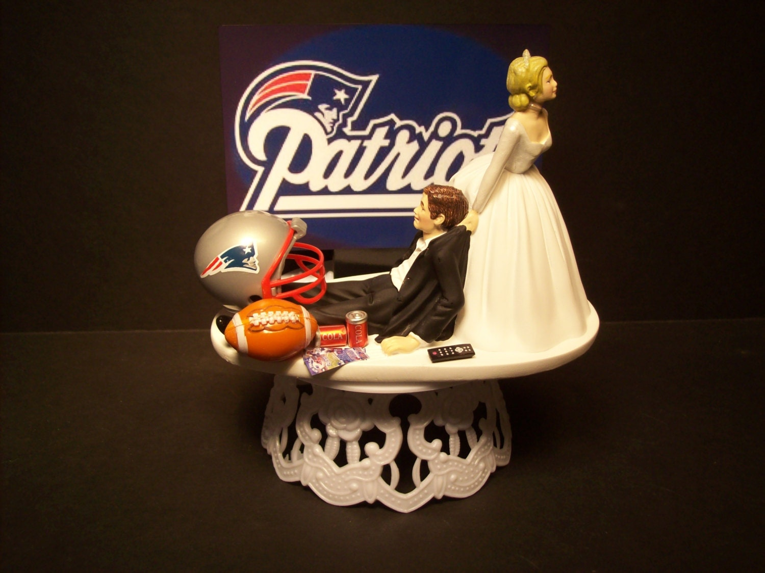 wedding cakes new england patriots new football wedding cake topper sports 25077