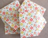 Retro Flower Dance Mini Envelope Set of 4, Business cards holder, Gift Card Envelope