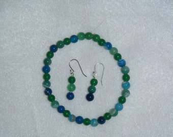 Green & Blue Stretch Bracelet