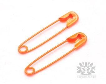 Big Sale!!! SP004-02-NO// Neon Orange 37mm Pin Pendant, 6pcs