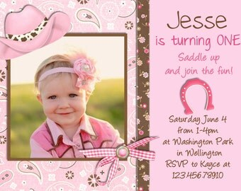 Printable Cowgirl Birthday Invitation - Cowgirl Party Invite