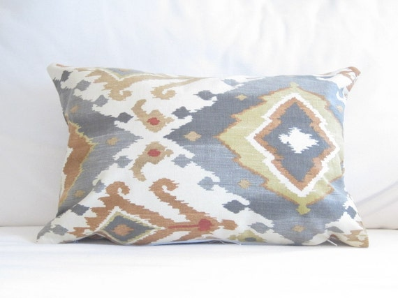 ikat lumbar pillow covers chair pillow 12x18 in decorative pillow